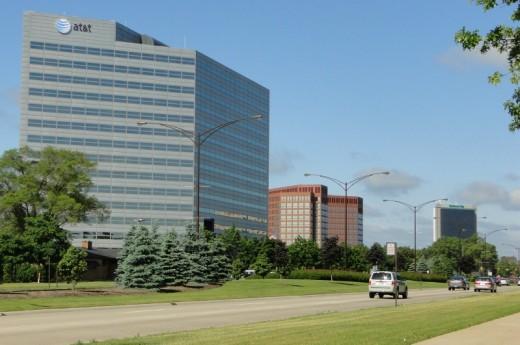Office buildings along Big Beaver Road in Troy, Michigan