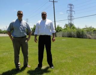 Planning Director Mark Miller and Principal Planner Brent Savidant