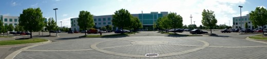 Office buildings along Stephenson Parkway in Troy