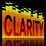 """graphic of the word """"clarity"""""""