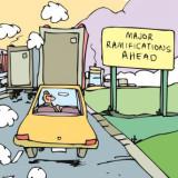 Major ramifications ahead cartoon