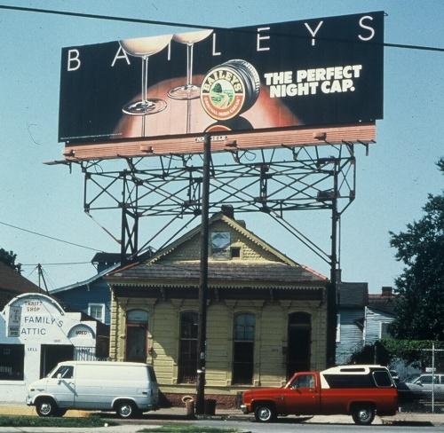 photo of a billboard advertising Baileys