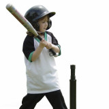 girl batting at t-ball