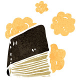 illustration of a dusty book