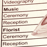 check list for planning a wedding
