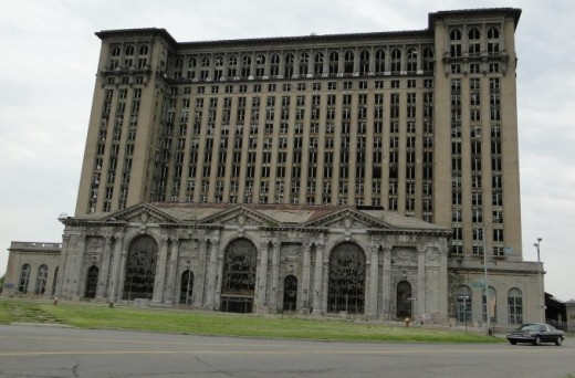 photo of Michigan Central Railroad Station & Tower in Detroit