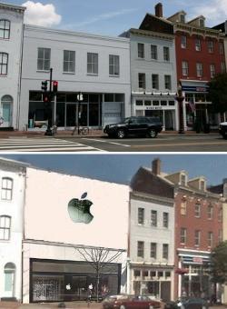 Apple Store in Georgetown neighborhood of Washington, D.C.