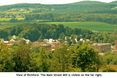 View of Richford, Vermont