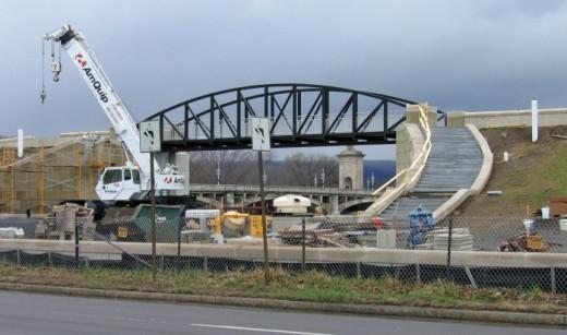 New pedestrian bridge is part of riverwalk in Wilkes-Barre
