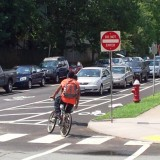 photo of bike lane in Charlottesville