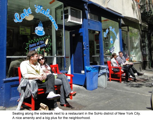 a nice place to sit in the Soho district of Manhattan