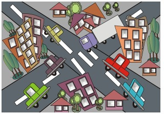 traffic graphic
