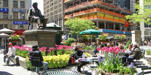 seating in New York's Greeley Square