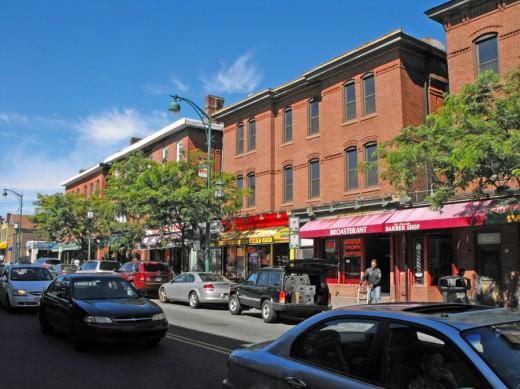 Park Street in Hartford's Frog Hollow neighborhood