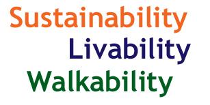 Sustainability Livability Walkability