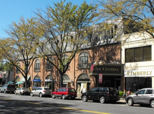 A block in West Hartford Center