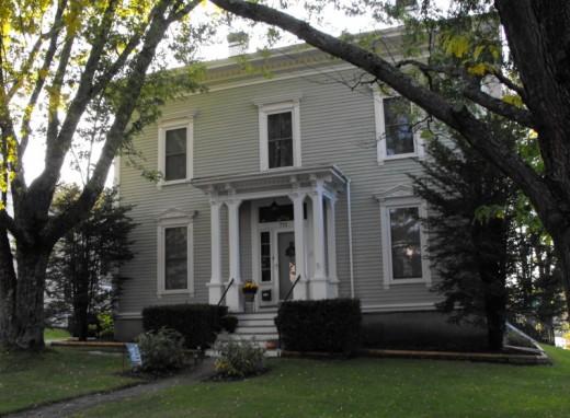 House along High Street in Bath, Maine