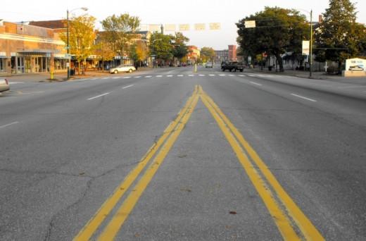 Maine Street in downtown Brunswick