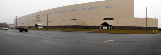 Giant hangars used by Kestrel Aircraft