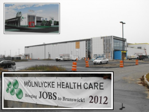 Molnlycke Health Care building under construction