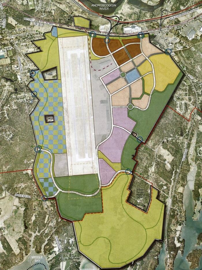 Brunswick Reuse Plan map