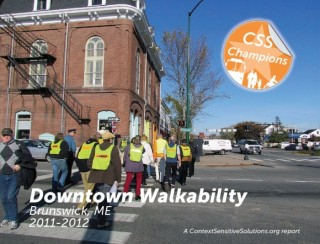 Downtown Walkability report cover