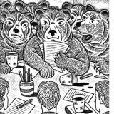 Angry bears illustration by Paul Hoffman for PlannersWeb