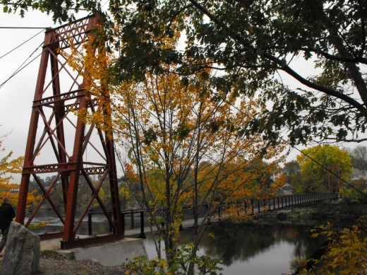 The Swinging Bridge across the Androscoggin River