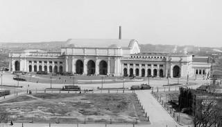 Exterior, Union Station, Washington, DC - under construction