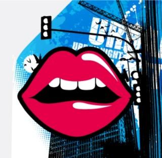 illustration of lip service