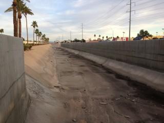 Photo of concrete drainage channel