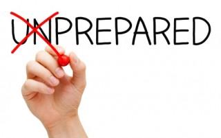 don't show up unprepared