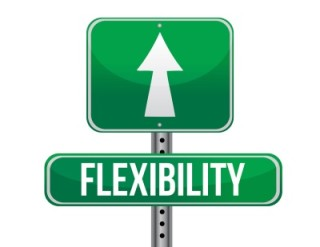 Road sign that says Flexibility