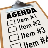 illustration of an agenda
