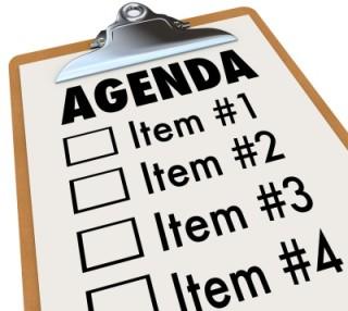 illustration of an agenda