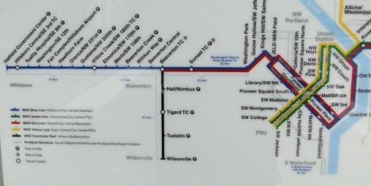 TriMet rail map