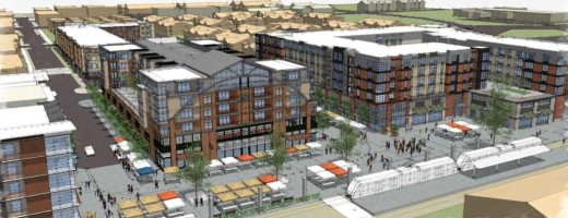 Much of Orenco's remaining build out will include high density units. These will be in the undeveloped area close to the light rail station.