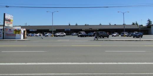 Commercial strip development in Portland.