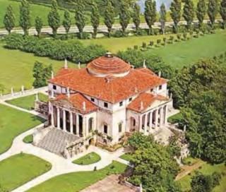 The inspiration for Carmel, Indiana's concert hall - the Villa Rotunda in Vincenza, Italy.
