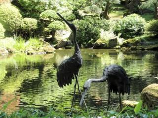 Gardens-stork-sculptures
