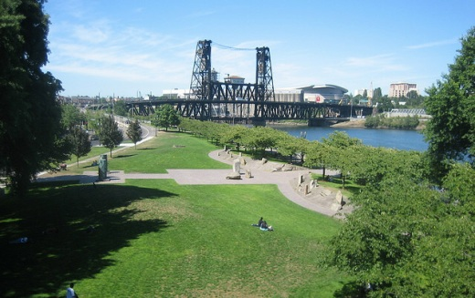 photo of McCall Waterfront Park in Portland, Oregon by Rob Lambert, courtesy Flickr creative commons.