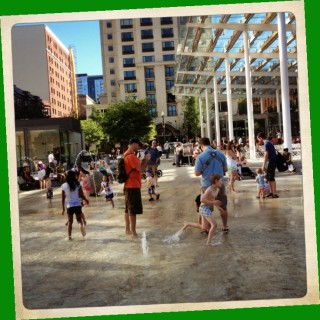 Part of Director Park features an area where kids can romp in the water. Perfect on a summer day. More on water in Portland in the next section of this post.