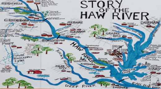 Haw River Map posted courtesy of the Haw River Assembly: www.hawriver.org. Click on map to view it at larger size.