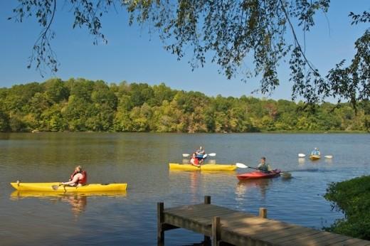 Kayaking on the Haw River. photo courtesy of Silenteye Photography.