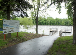 Rotary Park in Sartell borders the Mississippi River