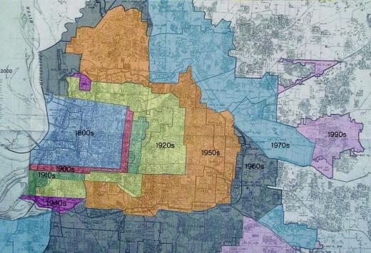 Memphis annexation map
