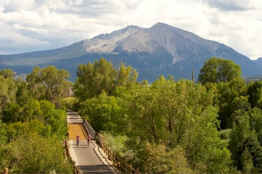 View of the Rio Grande Trail. photo Courtesy Glenwood Springs Chamber.