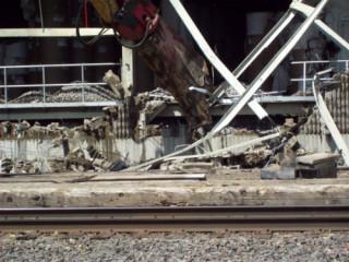 Building debris. Photo courtesy City of Sartell.