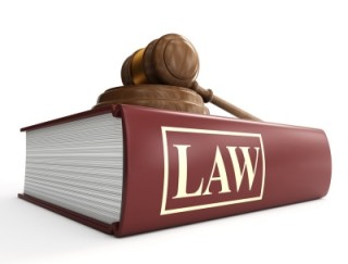 """book with the word """"Law"""" on it."""