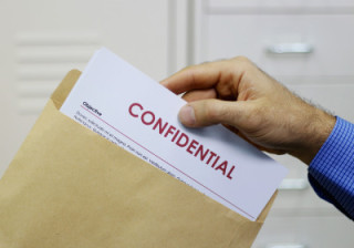 Paper marked Confidential